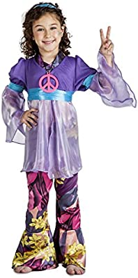 Disfraz de Hippie Niña (3-4 años): Amazon.es: Ropa y accesorios