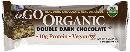 NuGo Nutrition Organic Protein Bars Double Dark Chocolate 12 Bars 1 76 oz 50 g Each