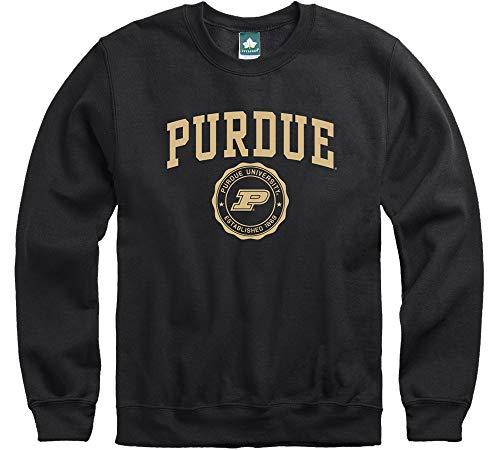 (Ivysport Purdue University Boilermakers Crewneck Sweatshirt, Legacy, Black,)