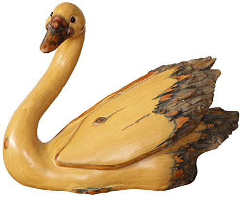 Your Heart's Delight Resin Swan Decor, 11-Inch, Tan by Your Heart's Delight