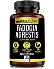 Earth Elixir Fadogia Agrestis Supplements 500mg for Endurance and Energy (60 Capsules) - Natural Testosterone Booster for Men, Helps Increase Stamina - Health and Wellbeing Support for Men