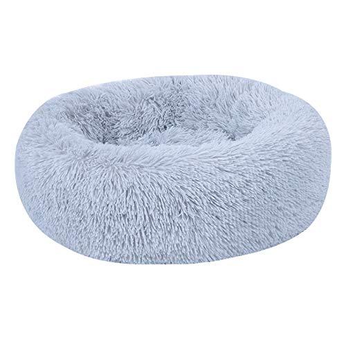 feeilty Haustier Hund Katze Beruhigende Bett Round Nest Warmer Weicher Plüsch Bequem Für Winter Schlaf