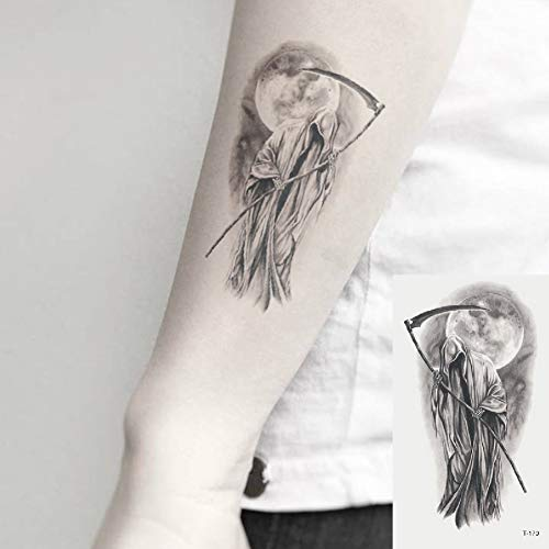 Oottati Small Cute Temporary Tattoos Stickers grim Reaper (2 Sheets)