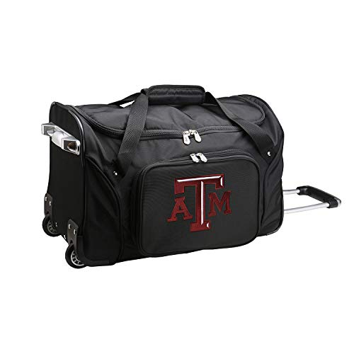 - NCAA Texas A&M Aggies Wheeled Duffle Bag, 22 x 12 x 5.5, Black
