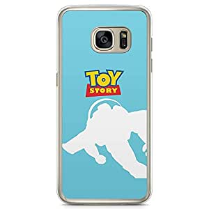 Loud Universe Buzz Light Year Toy Story Samsung S7 Edge Case Blue Flying Buzz Samsung S7 Edge Cover with Transparent Edges