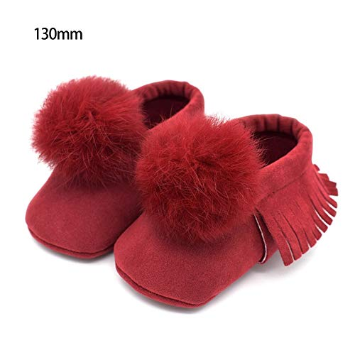 Florenceenid Fringed Balls Baby Shoes Toddlers Shoes for Spring Autumn and Winter