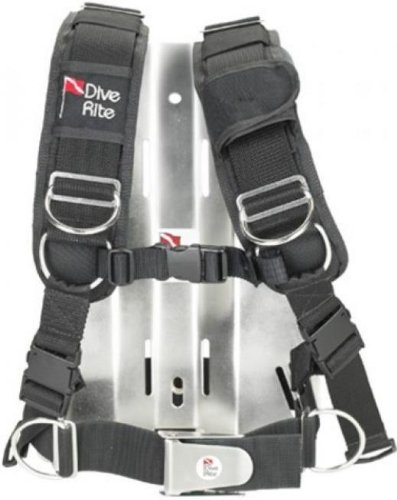 Dive Rite Transplate with S/S Backplate - X-Large for Scuba Divers