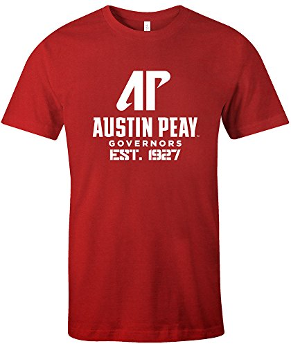 NCAA Austin Peay Governors Est Stack Jersey Short Sleeve T-Shirt, Red,Medium ()