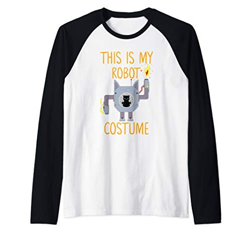 Funny Robot Costume Halloween Party Humanoid Programmable Raglan