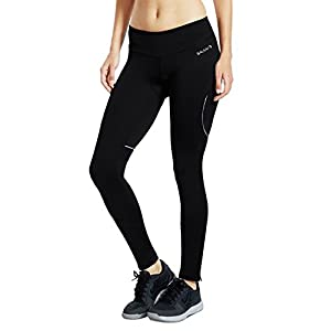 Baleaf Women's 3D Padded Compression Cycling Tights Pants Wide Waistband