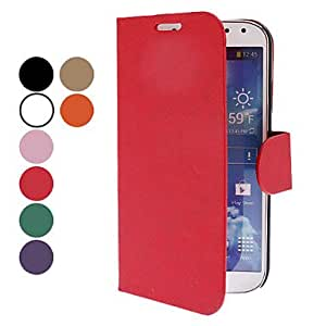 Jeans Grain PU Leather Case with Stand and Card Slot for Samsung Galaxy S4 I9500 (Assorted Colors) --- COLOR:Pink