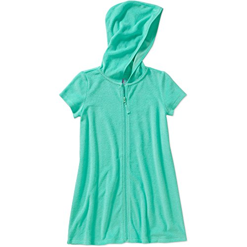 Op Girls Terry Hooded Swimsuit Cover Up (Large 10-12, Aqua Mint)