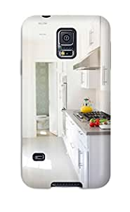 New Style tony zapata Hard Case Cover For Galaxy S5- Contemporary Galley Kitchen With White Cabinets