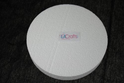 Foam Disc - LA Crafts Brand 6x1 Inch Smooth Foam Craft Disc - 12 Pack