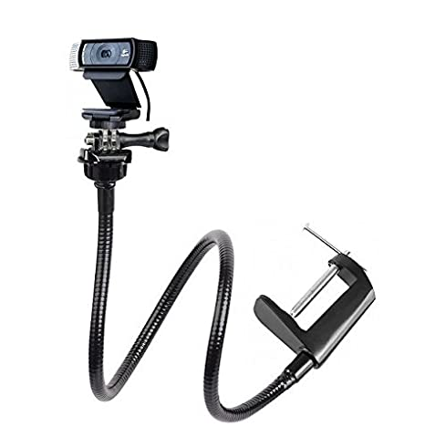 25 Inch Flexible Jaw Long Arm Swivel Clamp Clip Mount Holder Stand For Logitech Webcam C925e C922x C922 C930e C930 C920 C615 by Ace Taken
