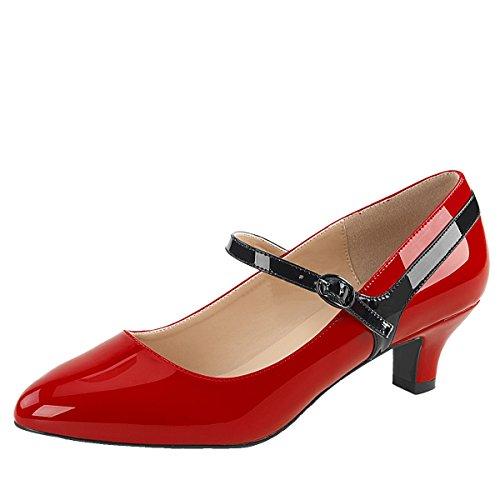 Heels-Perfect - Zapatillas Mujer rojo (rojo)
