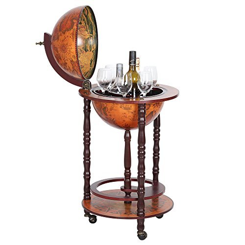 NEX HT-KF304G-S Globe Wine Bar, Wood (And Bar Accessories Wine)