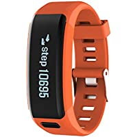For Smartphone Bluetooth Smart Watch Sport Pedometer Heart Rate Monitor (Orange)