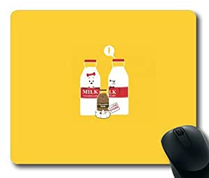 Cartoon Milk Rectangle Mouse Pad by Lilyshouse