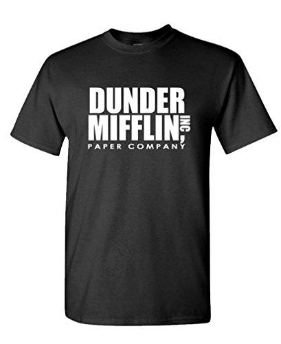 Dunder Mifflin - Office Show Paper Company - Mens Cotton T-Shirt, L, Black