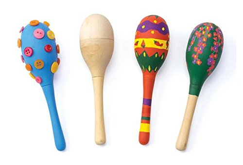 Colorations Maracas Decorate Your Own Wooden Maracas (Pack of 12) Discount School Supply