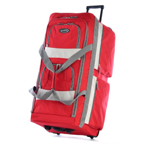 Access Rolling Backpack (Olympia 33 Inch 8 Pocket Rolling Duffel, Red, One Size)
