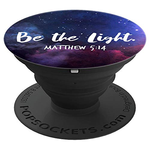 Matthew 5:14 Bible Verse Christian Faith Inspiring Quote - PopSockets Grip and Stand for Phones and Tablets by Rejoice Always Gifts