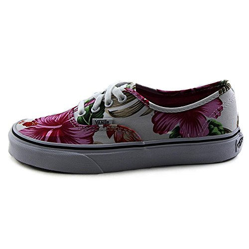 Blanco U Baskets Floral Mixte Mode Authentic hawaiian Vans Adulte 4qwFf