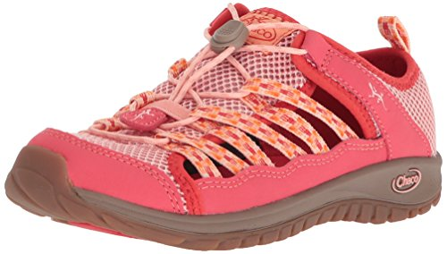 Chaco Girls' Outcross 2 Water Shoe, Peach, 2 Medium US Little -