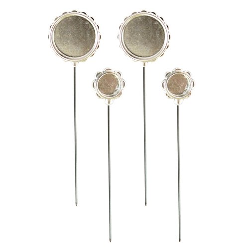 Spellbinders MB3-001S Media Mixage Circle Silver Hatpin