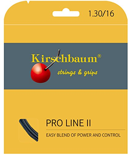 Kirschbaum Set Pro Line II Tennis String, 1.30mm/16-Gauge, Black