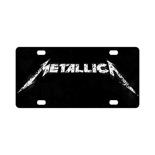 Beautytool Custom Personalized Metallica Logo Home,bathroom and Bar Wall Decor Car Vehicle License Plate Souvenir Metal Tin Sign Plaque 12 X 6 Four Hole ()