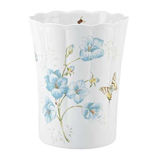 (Butterfly Meadow Blue Waste Basket by Lenox )