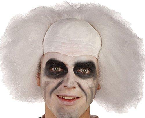 Mens Fancy Halloween Dress Party Crazy Guy Beetlejuice Bald Head Artificial (Halloween Costumes Bald Guys)