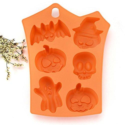 Creazy Happy Halloween Creative Silicone Pumpkin Cake Silicone Mold Kitchen Bake Tools ()