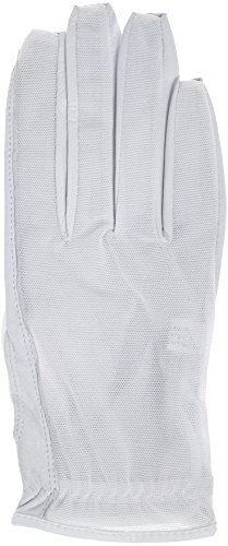 Lady Classic Solar Nail and Ring Glove, White, Medium, Right Hand