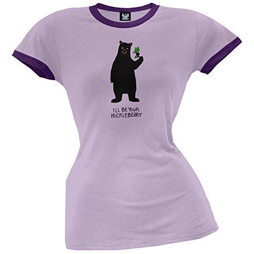 Bear Hucklebeary Women's Pajama Ringer T-Shirt - Large