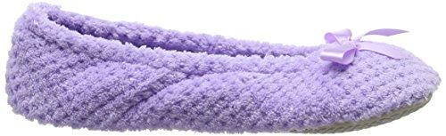 Isotoner Ladies Popcorn Ballet Slippers - Pantuflas para Mujer Lila (Lavender)