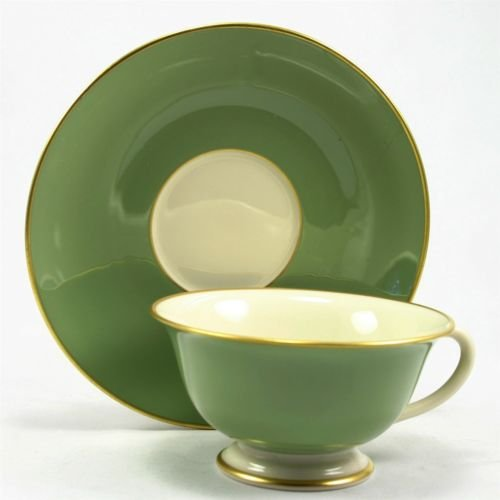 Franciscan Palomar Jasper Green Ivory Gold - Cup and Saucer Set