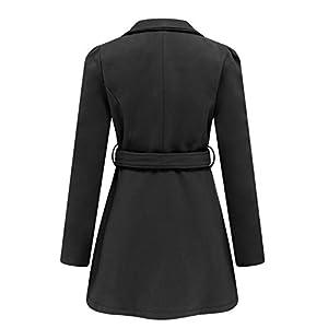 Wantdo Women's Wool Wrap Swing Coat With Belt US X-Small Black
