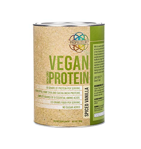 Cheap Propello Life Non-GMO, Vegan Protein, Spiced Vanilla, Fiber, Artificial Ingredient Free, 450 Grams