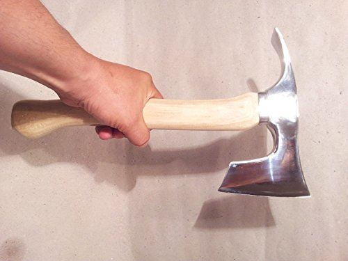 Stainless Steel Elegant Small Bearded Hatchet / Axe Combined with Adze Blade by mapsyst (Image #4)