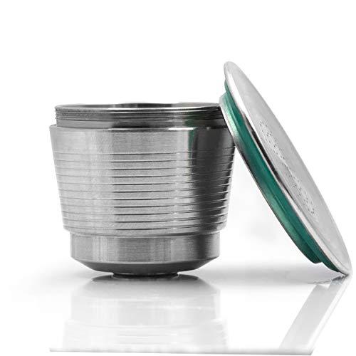 KONESKY - Cápsulas de café (acero inoxidable, recolectables, con brocha y cuchara)