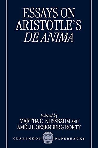 Essays on Aristotle's De Anima (Clarendon Aristotle Series)