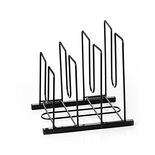 ProAid Desktop Organizer, Steel Wire Office File Holder Rack, Black