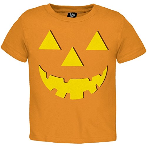 [Old Glory - Unisex-baby Jack O Lantern Halloween Costume Toddler T-shirt 3t Orange] (Inappropriate Halloween Costumes For Babies)