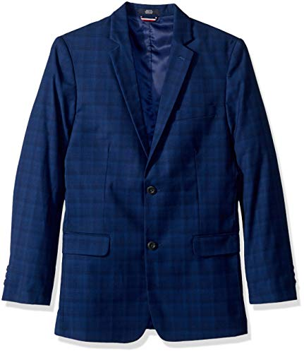 Tommy Hilfiger Boys' Big Patterned Blazer Jacket, Midnight, 16