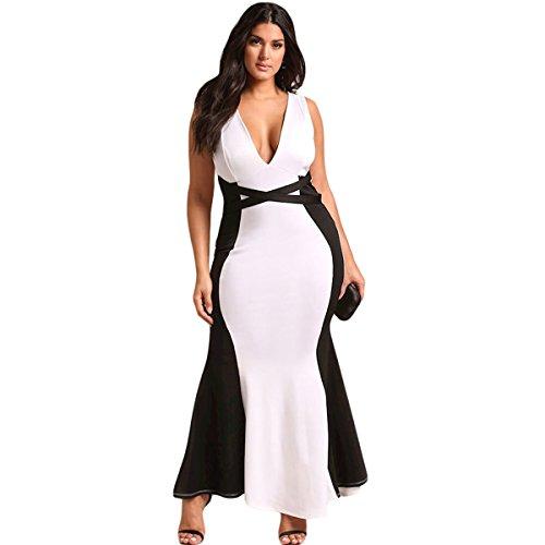 Maniche Lunghe Da Xl V colore Vestibilità Dimensioni Gonna Bianca Con Scollo E Confezione Summer Zip bianco Plus Lady Bianca Lian A Xxxl 1 xxxxl qtn6Ex0T6