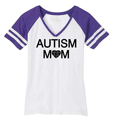 Comical Shirt Ladies Autism Mom Tee Autism Awareness Even Tee Game V-Neck Tee