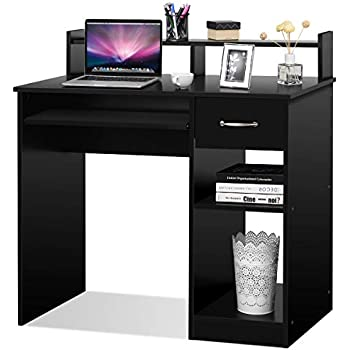 Amazon Com Tangkula Computer Desk Modern Home Office